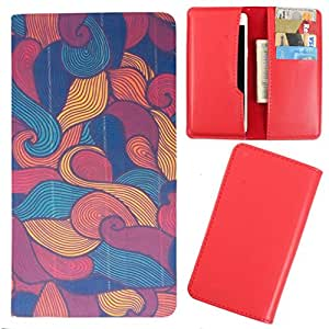 DooDa - For Lava iris 504Q PU Leather Designer Fashionable Fancy Case Cover Pouch With Card & Cash Slots & Smooth Inner Velvet