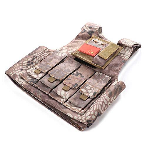 INFILM Kinder Tactical Weste, multifunktional, Camouflage Kampfweste, Eat Huhn Schutzweste, CS-Ausrüstung für Armeefans, deren Höhe unter 145 cm, a1
