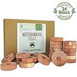 HI HONEY Natürlicher Bio Mottenschutz aus Zedernholz [24 Stück] - effektive...