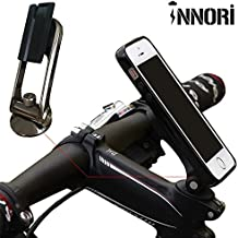 Soporte para bicicleta INNORI soporte para teléfono móvil soporte para bicicleta plástico de alta calidad de Vinilo Kit de soporte para bicicleta tarjetero y soporte Base para iPhone 6 y 6 Plus 5 5S 5C 4 4S Samsung Galaxy S5 S4 S3 Note 2 Note 3 Nokia Lumia 920 LG Optimus G HTC Google Nexus BlackBerry ¨ negro