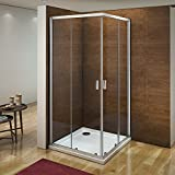 760x760mm Corner Entry Double Sliding Door 6mm Safety Glass Screen Cubicle Shower Enclosure NEXT WORKING DAY DELIVERY
