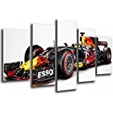 Cuadro Moderno Fotografico Coche Red Bull Racing Formula 1, Ricciardo y Verstappen 2017, 165 x 62 cm, ref. 26563