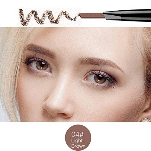 Magical Halo Precision Stir Liner Doppel-Augenbrauen Bleistift mit Augenbrauenstift Pinsel Tools 5 Farben Light Brown Packung von 1