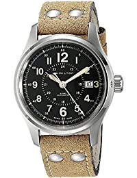 Hamilton Men's Automatic Watch with Black Dial Analogue Display - H70595593