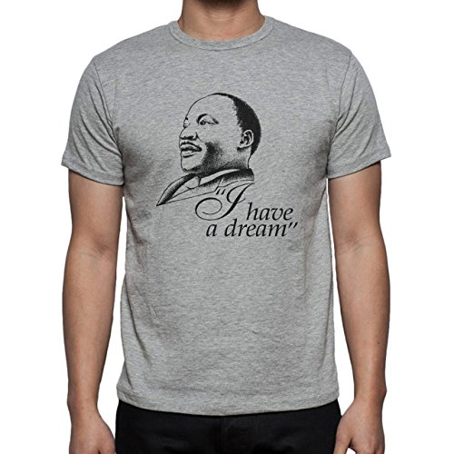 Martin L King I Have A Dream Splashed Herren T-Shirt Grau