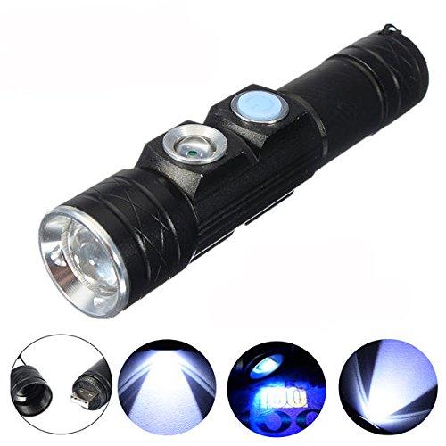 Global Elfeland XP-E 5Modes USB Rechargeable Mini LED lampe de poche avec lumière UV