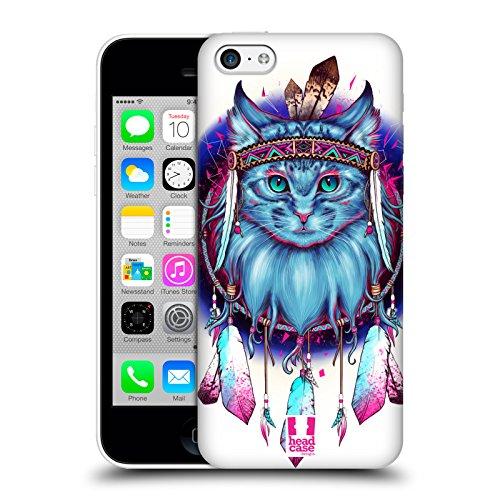Head Case Designs Hibou Animaux Attrape-Rêves Étui Coque D'Arrière Rigide Pour Apple iPhone 5c Chat
