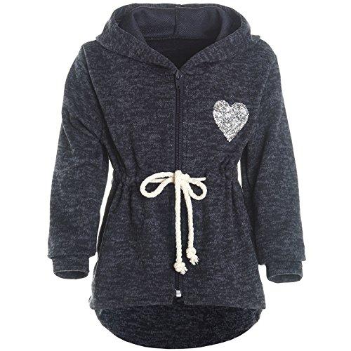 BEZLIT Mädchen Kapuzen Jacke Pulli Pullover Glitzer Sweatshirt 21489 Blau Größe 116 -