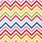 Tela de rayas finas en zig-zag azul oscuro rosa fuerte Remix de Robert Kaufman
