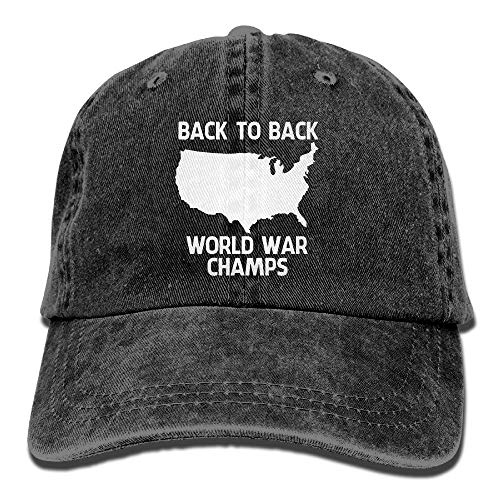 Mabell Back-to-Back World War Champs Unisex Adult Adjustable Gym Dad Hats (Power Newsboy Cap Blue)