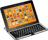 TechniSat Bluetooth Tastatur & Cover für 10,1 Zoll Tablet-PCs / passgenau für z. B. TechniPad 10(G) und Samsung Galaxy Note 10.1