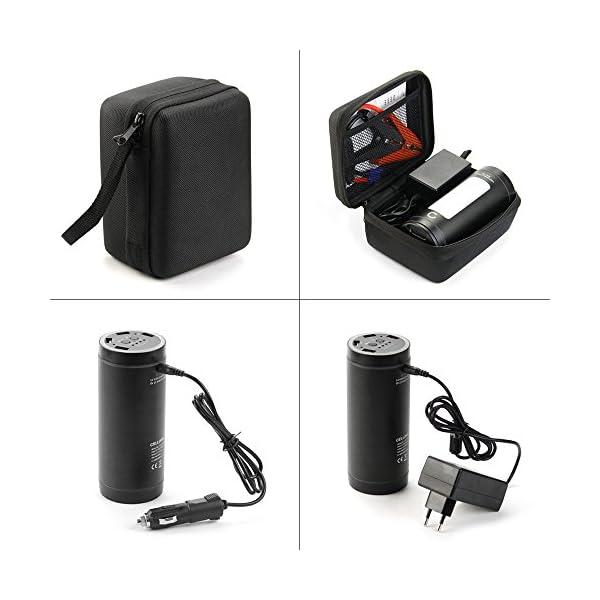 CELLONIC® 12V Arrancador de Coche, Jump Starter – 4en1: 12000mAh Powerbank (4X USB, 5A MAX.), Panel LED, Función calefacción – Batería Externa, USB Cargador batería vehículos, Arrancador de Autos