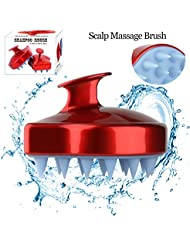 Shampoo Scalp Massage Brush Head Massager Shower Body Massaging Cleaning Brush Hair Comb for Men Women Kids