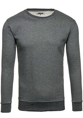 BOLF Herrenpullover Basic Sweatshirt BOLF BO01 Anthrazit XXL [1A1] |