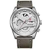 FAERDUO Reloj de los Hombres de Lujo Hombres Reloj Deportivo Ocasional Crongrafo Impermeable Fecha Pantalla Reloj de Cuarzo Regalo de Moda