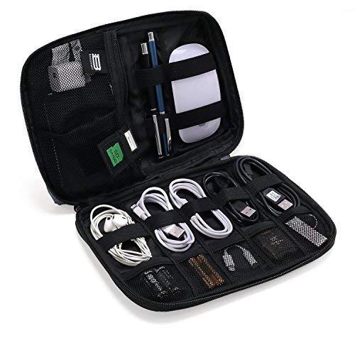 BAGSMART Organizzatore Cavi da Viaggio Universale per Electronici Accessori Organizer Cavi Custodia da Viaggio Impermeabile