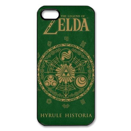 Apple iPhone 5/iPhone 5S-case the legend of zelda étui de protection coque tPU de protection pour iPhone 5 5S blanc/noir)