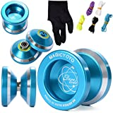Magic YOYO N8 Alloy Aluminum Yo Yo Bearing Reel + 5 Strings + Glove TH107 by MAGICYOYO