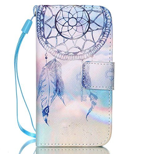 JanCalm iPhone 4S Fall, iPhone 4Fall, [Handschlaufe Design] [Standfunktion] Muster Premium PU Leder Wallet [Card/Cash Slots] Flip Cover für iPhone 4/4sincluding-one Crystal Pen (Muster Iphone 4s Fall)
