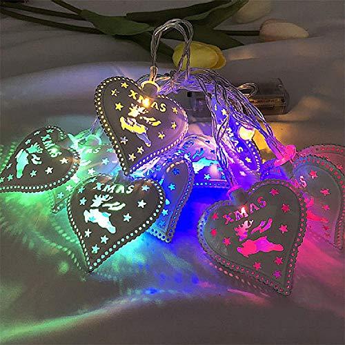 Love Heart Light String Festival Festival Décoration De Jardin Light Led String Light Fairy Light Décoration De Noël Light St