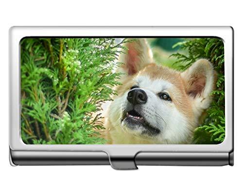 Brieftasche Kreditkarte ID Fall/Inhaber, Haustier Shiba Inu Hund Name Kartenhalter