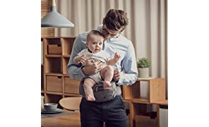 Bebamour Marsupio pieghevole Marsupio ergonomico Marsupio per 0-36 mesi Baby Carrier Backpack