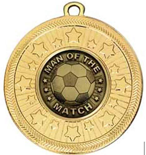 alisierte Medaille VF Star Football Man of The Match, 50 mm Durchmesser, mit Band ()