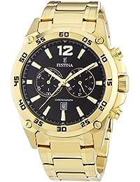 Festina Herren-Armbanduhr XL Chronograph Quarz verschiedene Materialien F16806/3