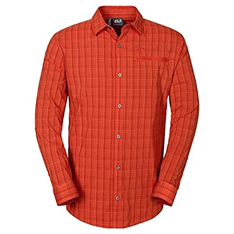 Jack Wolfskin Lodgepole Chemise pour homme Ray Flex Chemise M, homme, rayons Hemd Flex pour homme M, Homme, Chili Checks