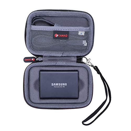 XANAD Dur Étui Cas de Voyage Porter Housse pour Samsung T3 ou T5 SSD 250 Go, 500 Go, 1 to et 2 to Disques Durs