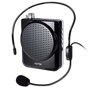 agptek tragbares stimmeverst rker mikrofon lautsprecher mit bund integrierte wiederaufladbare. Black Bedroom Furniture Sets. Home Design Ideas