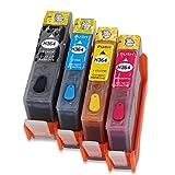 hemei @ 364Full nachfüllbar Tintenpatrone für HP 364Tinte, Verwendung für HP Photosmart C5380551055145515651065207510752065255520552555225524Drucker 4PCS Tinte