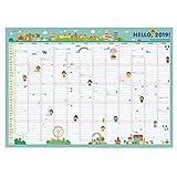 Ocupado 2019 Big Family Organizer Calendar, Children 365 Wall Schedule Calendar, Month, Week Plan Calendar (Color : A, tamaño : 3PCS)