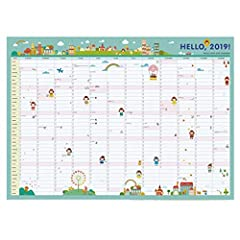 Idea Regalo - Busy 2019 Big Family Organizer Calendar, Children 365 Wall Schedule Calendar, Month, Week Plan Calendar (Color : A, Dimensione : 3PCS)