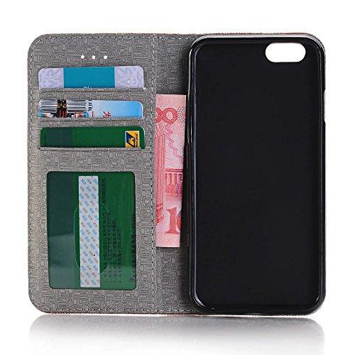 iPhone Case Cover Cowboy Jeans Etui en Cuir PU Portefeuille Stand Case Housse en Silicone pour iPhone Appple 7 ( Color : 2 , Size : IPhone 7 ) 1
