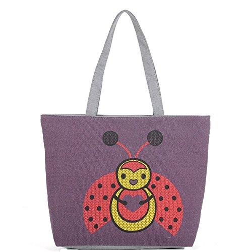 Miyaia Pu Gongying / Marienkäfer Muster Damen elegant Shopper-Tasche Handtaschen Tasche Schulterbeutel I