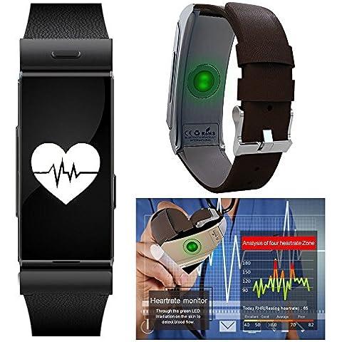 Indigi® Elegante e alla moda Smart Bluetooth sincronizzazione orologio da polso braccialetto per iPhone e Android