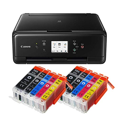 S-6250 All-in-One 3-in-1 Farbtintenstrahl-Multifunktionsgerät (Drucker, Scanner, Kopierer, USB, WLAN, Apple AirPrint) Schwarz + 10er Set IC-Office XXL Tintenpatronen ()