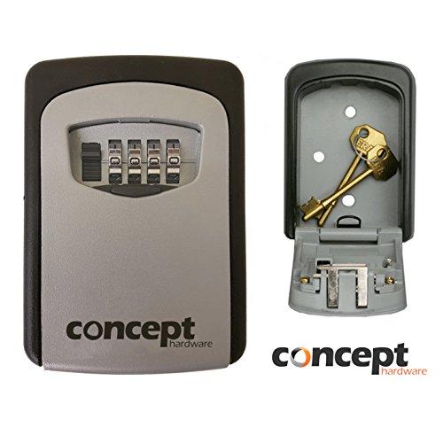 Outdoor-Safe, Schlüsselaufbewahrungsbox für den Außenbereich, Wandmontage, Sicherheitskombination, Aufbewahrungskasten mit Sperrcode -