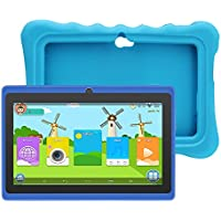 "Yuntab Q88H 7"" Tablette Tactile Enfant 1024X600 HD Resolution 8Go Android 4.4 A33 Quad Core Bluetooth Google Play Store avec Etui en Silicone (Bleu)"