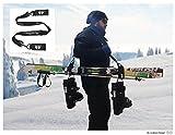 conkoon b' Ski / Snowboard Tragegurt (Träger) - Multifunktionales Set zum vereinfachten Tragen von Snowboard, Skiern, Skistöcke und Skischuhe