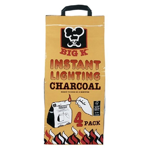 Big K Instant Lighting Charcoal Bags 4 x 1kg