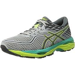 Asics T7B8N9697, Zapatillas de Running para Mujer, para caminar comodas Gris (Mid Grey/Carbon / Safety Yellow), 39 EU