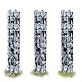 3x [pro.tec] colonnes - gabions (100 x 12,5 x 12,5 cm) gabion paniers à pierres gabions à colonnes colonnes