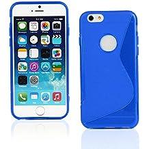 """Kit Me Out ES Funda de Gel TPU para Apple iPhone 6 4.7"""" pulgadas - Azul Onda línea S"""