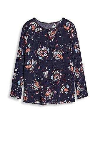 ESPRIT Collection Damen Bluse Mehrfarbig (Navy 400)