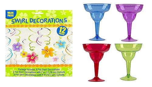 Maven Geschenke: Amscan Cocktail Margarita Gläser mit Party swirl Dekorationen Große Margarita