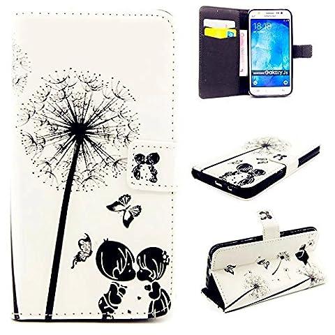 KSHOP PU Leder Hülle für Samsung Galaxy J5 Taschen Magnetverschluss Bookstyle Handyhülle Case Cover Ultra (Stampa Trapuntato Borsa)