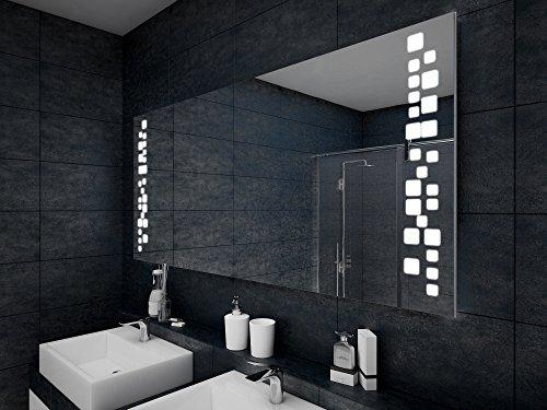 Design Badspiegel mit LED Beleuchtung Wandspiegel Badezimmerspiegel -
