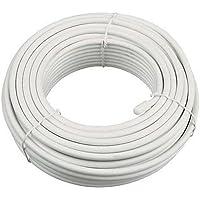 Bulk Hardware BH01479 - Cavo coassiale singolo per TV/satellite RG6, colore bianco